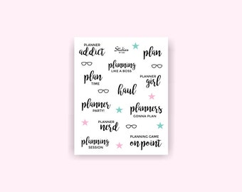 Planner Addict Stickers / Planner Nerd, Planner Girl / Planner Stickers / Word Stickers / Calligraphy Stickers | WS1