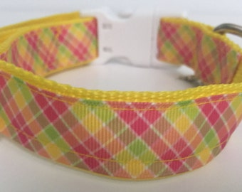 Pastel Plaid Collar