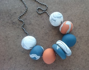 Autumn Change - Polymer clay necklace