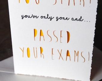 YOU STAR Cute Achievement Card Passed Exams Graduation A6