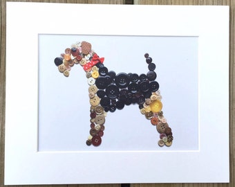 Airedale Terrier Mounted print