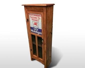Custom Wooden Bookcase with Door