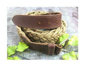 braided belt -woven belt - nice belt - casual belt - small belt - leather belt  -waist 29 to 32 inches  # 10