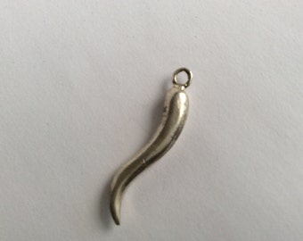 Lucky pepper charm sterling silver antique vintage # 859
