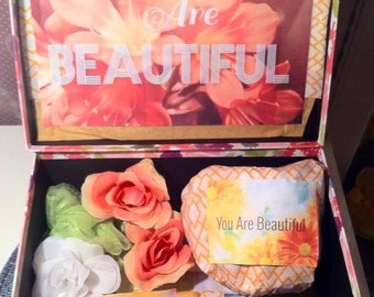 Mystery You Are Beautiful Box Care Package. College Care Package. Surprise Box. Get Well Box. Thinking of You Gift. Birthday Care Package.