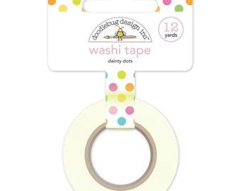 Doodlebug DAINTY DOTS Spring Garden Washi Tape
