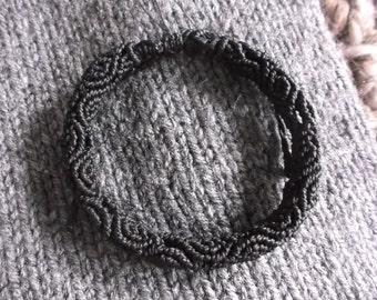 Brazilian wax cord bracelet,brown tube shaped blacelet,macrame bracelet