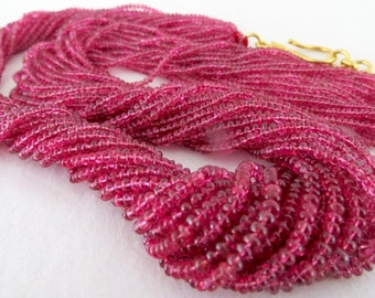 Amazing Fine 482Carats Natural Red SPINEL ROUND BEADS Bunch Necklace In Silver Hook