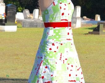 Vintage dress,halter dress, pin up dress, 60s dress, 1960s  dress, 50s dress, 1950s dress, rockabilly dress, vintage pattern