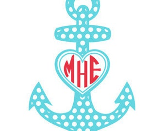Anchor decal with Monogram