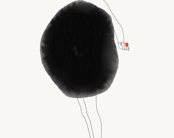 Watercolor dress - illustration a4