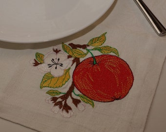 Napkins for dining. Red Apple