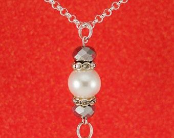 Simple Elegant Interchangeable ID Badge Lanyard Necklace