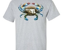 Maryland Blue Crab Fine Jersey Cotton T-shirt - Wildlife Shirts for Conservation