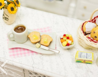 Coffee and Muffin Breakfast Combo - 1:12 Dollhouse Miniature
