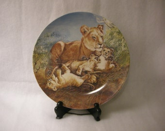 Lion With Her Cubs Decorative Plate