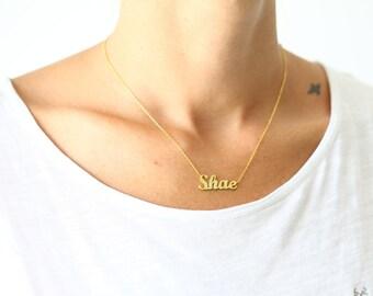 Silver Name Necklace / Gold Name Necklace / Script Name Necklace / Hand Writing Name Necklace / Personalized Silver Name Necklace
