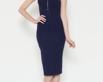 Midi Zipper Nursing Dress
