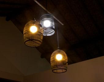 3 Bamboo Ceiling Lamp