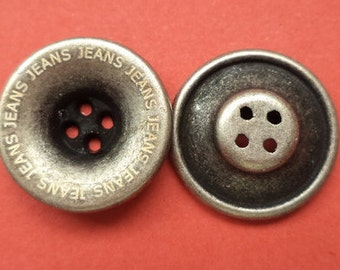 16 mm (4770) metal button buttons 12 metal buttons silver