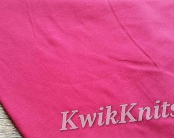 Fuchsia, Pink, solid, plain, cotton lycra, stretch, knit, fabric, four way, stretch knit, plain knit, solid knit, apparel fabric