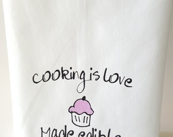 Cooking is love - Tea Towel