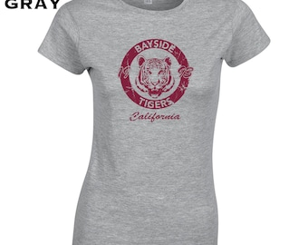 Bayside Tigers costume funny 90s saved tv show bell morris party college - Apparel Clothing - womens T-shirt - 149
