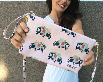 Clutch bag with shoulder strap Thetravellovebag India
