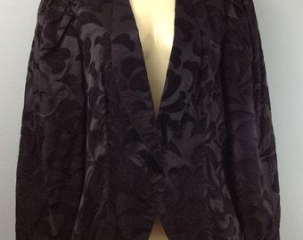 Vintage 1980s WHIMSY black glittery jacket UK 10/12 evening party