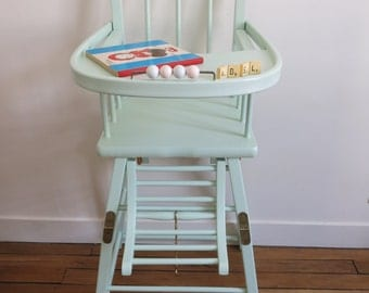 Green renovated child water high chair * customization *.