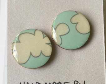 20mm Cloud Resin Bamboo Studs • Resin Earrings • Bamboo Studs • Surgical Steel Posts