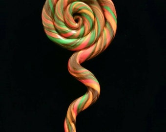 Psychedelic swirl pendant with Hemp cord necklace