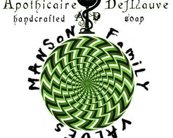 Hemp and Patchouli Handmade Soap, Manson Family Values, Vegan