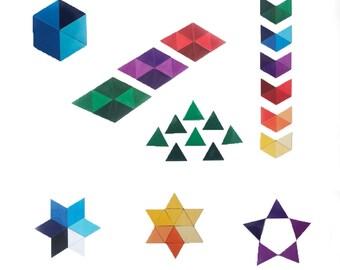 Trimanes   52 triangular magnet set