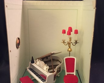 Ideal Petite Princess 1964 Dollhouse Furniture Piano Room