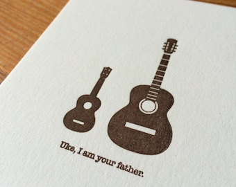 Uke, I am your father - Letterpressed Note Card