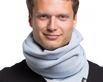 YOD - scarf from recycled Jersey - light blue