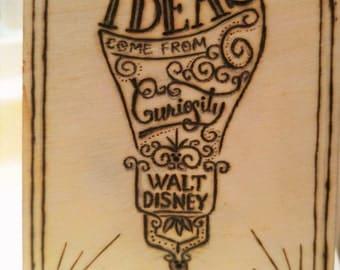 Disney woodburning