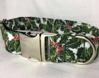 Christmas Dog Collar - Holly