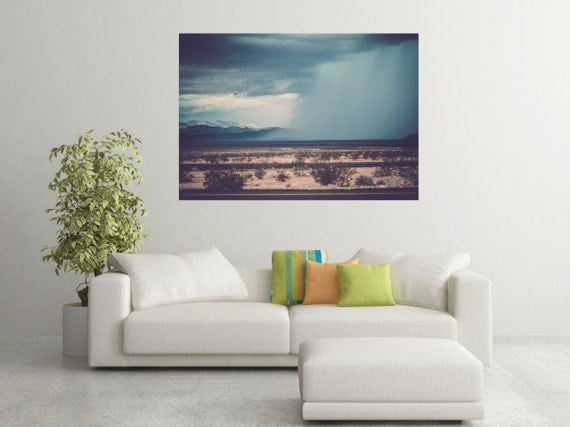 Utah Mountains/ Weather/ Storm Clouds/ Wall Decor/ Home Decor/