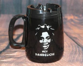 Hey Dandelion | Crazy Eyes Travel tumbler cup | OITNB | orange is the new black mug