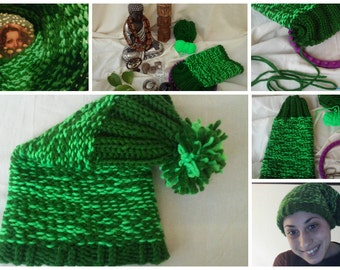 Hat Goblin of wool Green
