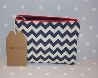 Nautical Zig Zag Pouch Bag