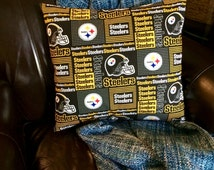 Reversible Pittsburgh Steelers Pillow Cover