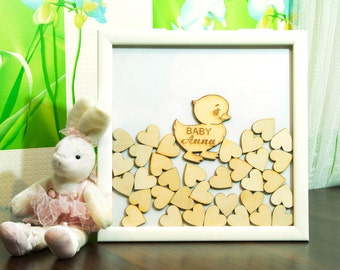 baby shower guest book alternative baby boy guestbook baby girl frame sign girl guest book drop