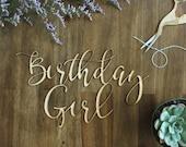 Birthday Girl Chair Sign Birthday Party