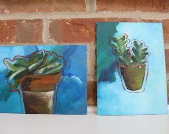 Oil Painting - Happy Plants