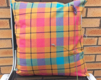 Pink plaid Cushion Cover