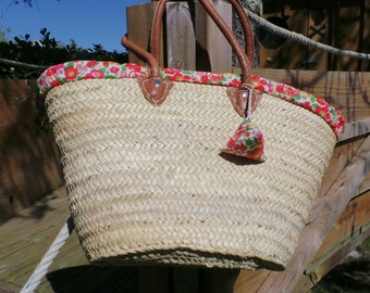 Straw basket and its liberty cover