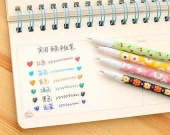 6pcs Pen - Flowers